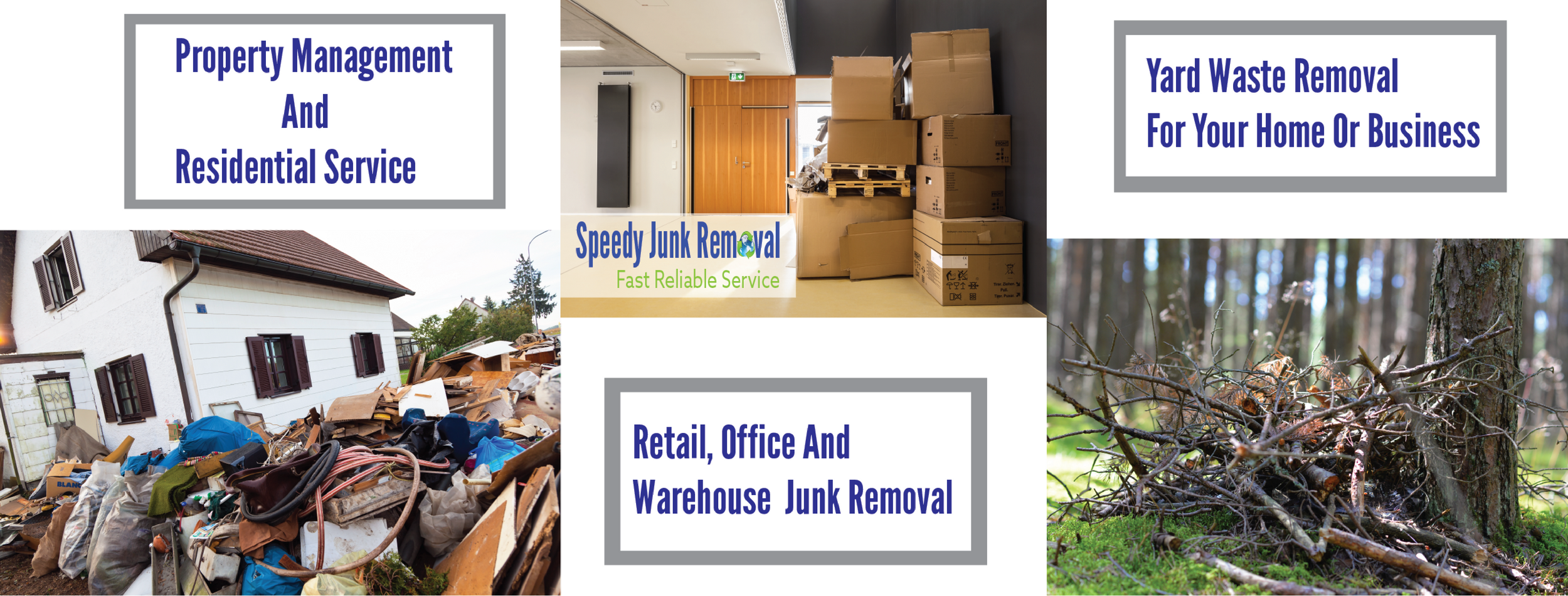 Services | Speedy Junk Removal | Fast Reliable Service | What We Take